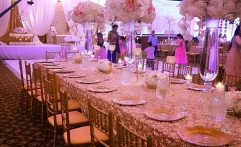 King's Table With Grand Centerpieces