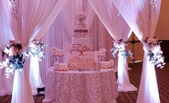 Fairytale Soft Pink Cake Table